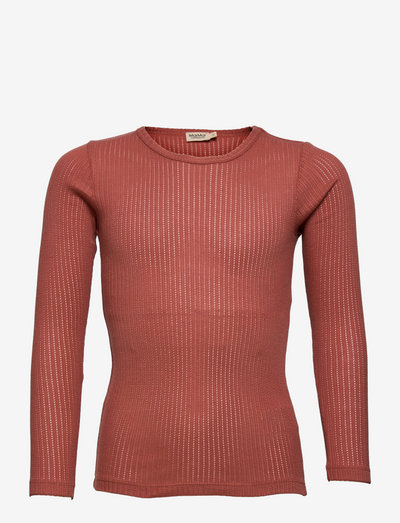 Tamra - langærmede t-shirts - gooseberry rose