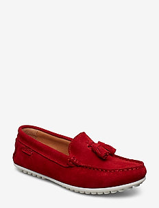 TASSEL DRIVING LOAFER WMN - BRIGHT RED