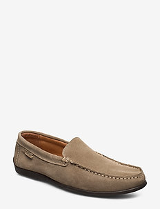 PLAIN DRIVING LOAFER SDE - BEIGE