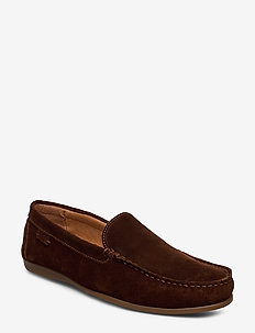 PLAIN DRIVING LOAFER SDE - BROWN