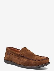 PLAIN DRIVING LOAFER SDE - loafers - fudge