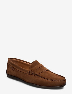 DRIVING LOAFER SDE - FUDGE