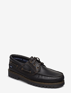 ROUGH 3-EYE LTH MARSTRAND SKO - BLACK