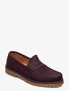 ROUGH LOAFER - loafers - burgundy