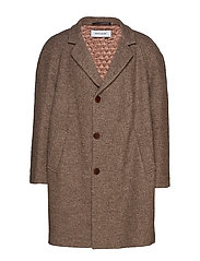 TOBACK COAT BM - BROWN MELANGE