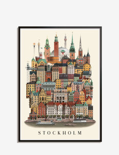 Stockholmstandard poster - kodinsisustus - multi color