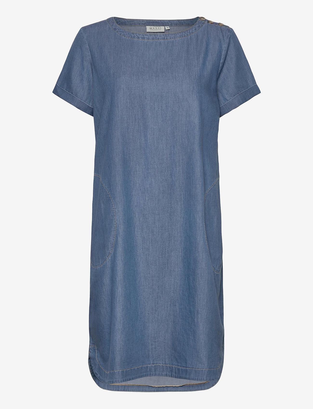 Masai - Nalani - sukienki dżinsowe - l basic denim - 0