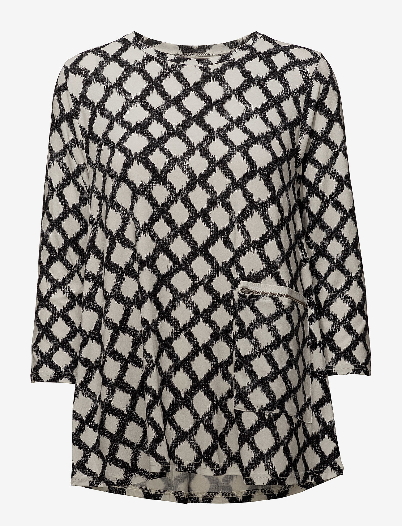 Masai - Dilek top - long sleeved blouses - black org