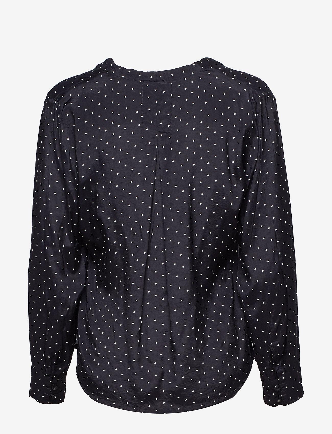 Masai Iana blouse - Bluzki & Koszule BLACK ORG - Kobiety Odzież.