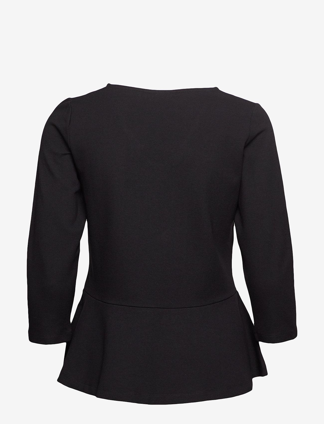Masai - Betty top - long sleeved blouses - black - 1