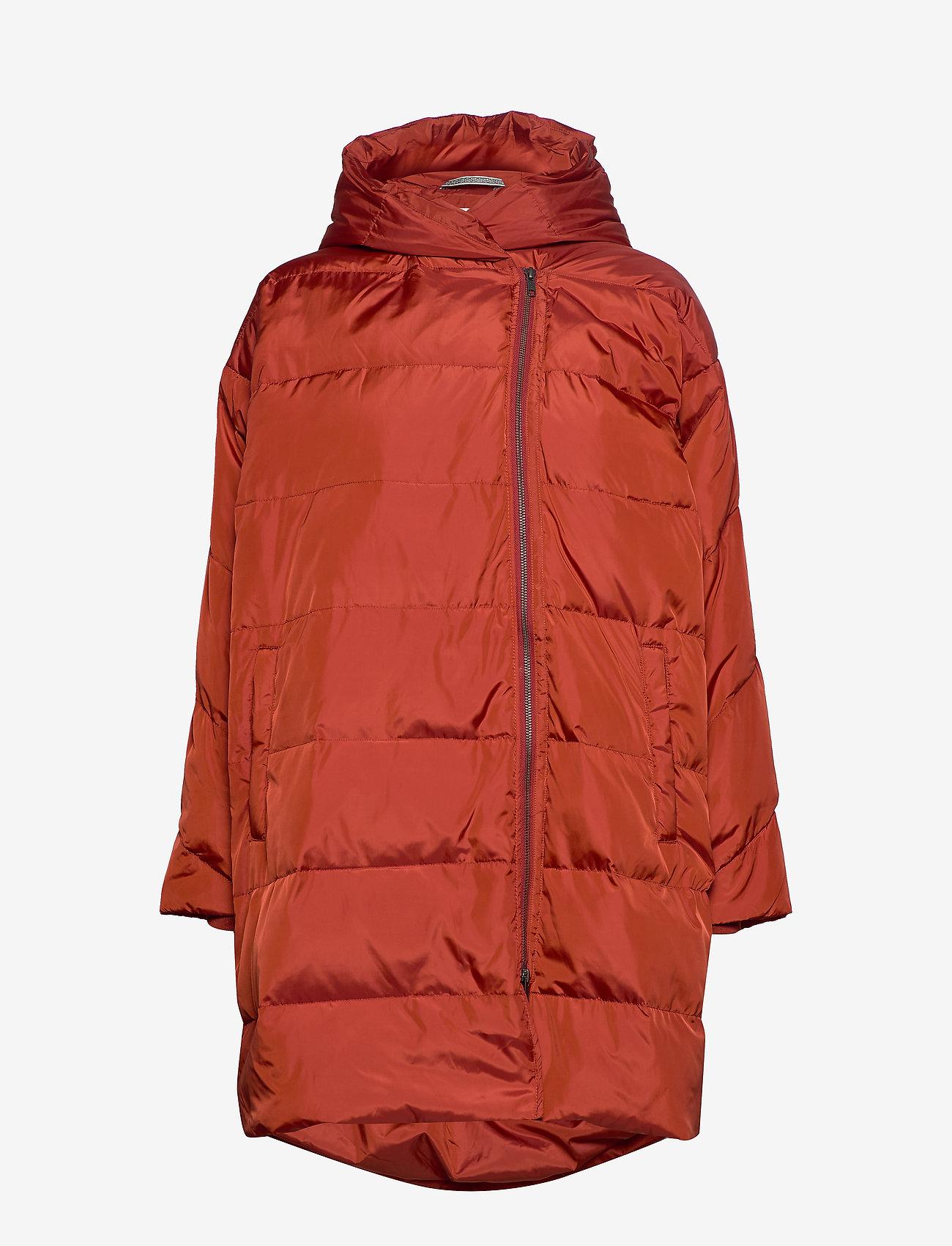 Masai - Tuala coat - padded coats - red ochre - 1