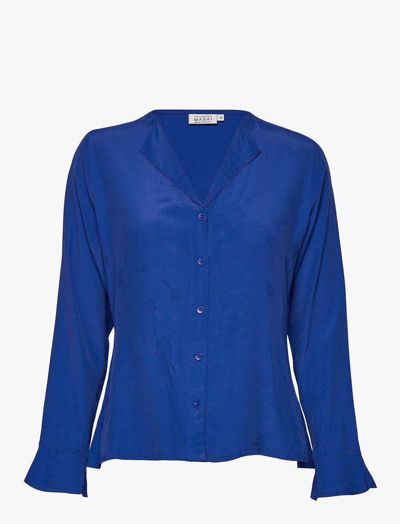 Masai - Irita blouse - bluzki z długimi rękawami - royal blue - 0