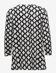 Masai - Dilek top - long sleeved blouses - black org - 1