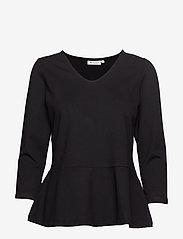 Masai - Betty top - long sleeved blouses - black - 0
