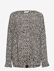 Masai - Belita top - long sleeved blouses - black org - 0