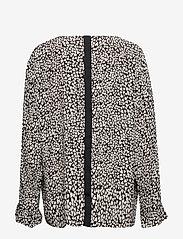 Masai - Belita top - long sleeved blouses - black org - 1