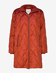 Masai - Tonya coat - wyściełane płaszcze - red ochre - 0