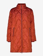Masai - Tonya coat - wyściełane płaszcze - red ochre - 1