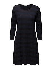 Georgia tunic fitted 3/4 slv - NAVY