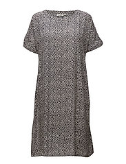 Olivia dress oversize no slv - NAVY ORG