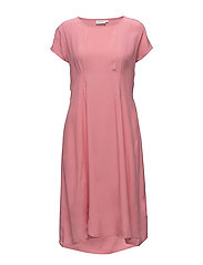 Nan dress fitted wing slv - LYCHEE