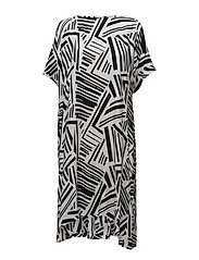 Olivia dress oversize no slv - BLACK ORG