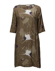Nani dress fitted 1/2 slv - SAGE ORG
