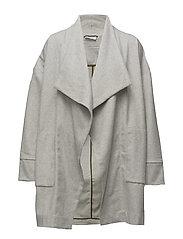 Tean coat straight - GREY MELANGE