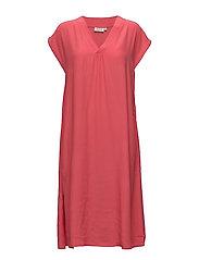 Omega dress A-shape no slv - CHERRY