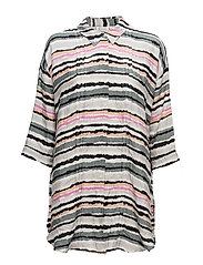 Idrill blouse oversize 3/4  PA - RESEDAGREEN ORG