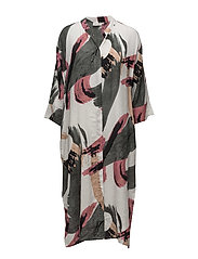 Ines dress oversize 3/4 PA - ROSYBROWN ORG
