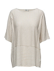 Farida top oversize 1/2 slv - NATURAL ORG