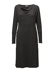 Noga dress fitted long slv - STONE MELANGE