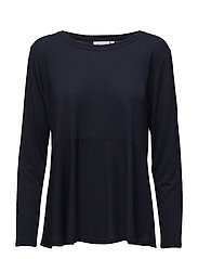 Bee top shaped long slv - NAVY