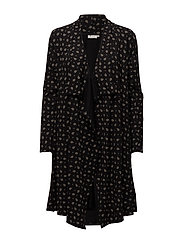 Irma cardigan fitted long slv - BLACK ORG