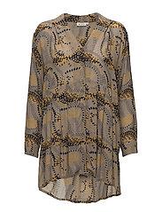 Imka blouse A-shape long slv - DIJON ORG