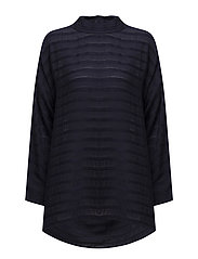 Brunhilda top oversize long sl - NAVY