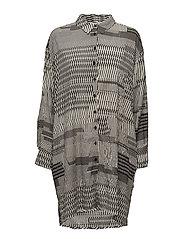 Inka blouse oversize long slv - BLACK ORG