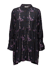 Ingrid blouse fitted long slv - AMETHYST ORG