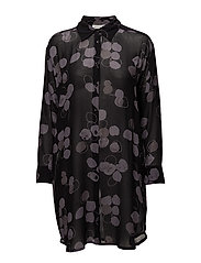 Ira blouse A-shape long slv - STONE ORG
