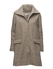 Thelma coat A-shape - KHAKI MELANGE