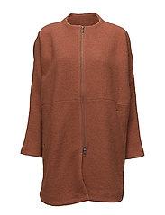 Tonie coat oversize - DARK AMBER