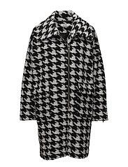 Tia coat straight - BLACK ORG