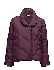 Tussa coat A-shape - BURGUNDY
