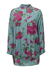 Ideqa blouse - AQUA ORG
