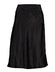 Sally skirt midi - BLACK