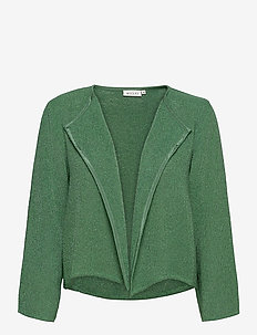 Julitta - swetry rozpinane - bottle green