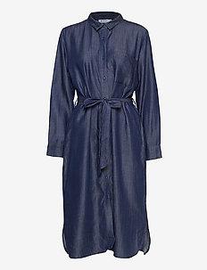 Noor - shirt dresses - dark denim