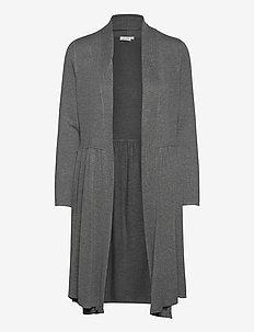 Lesia - swetry rozpinane - medium grey melange