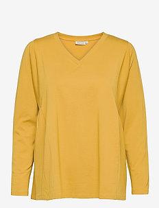 Delsa - langærmede toppe - oil yellow